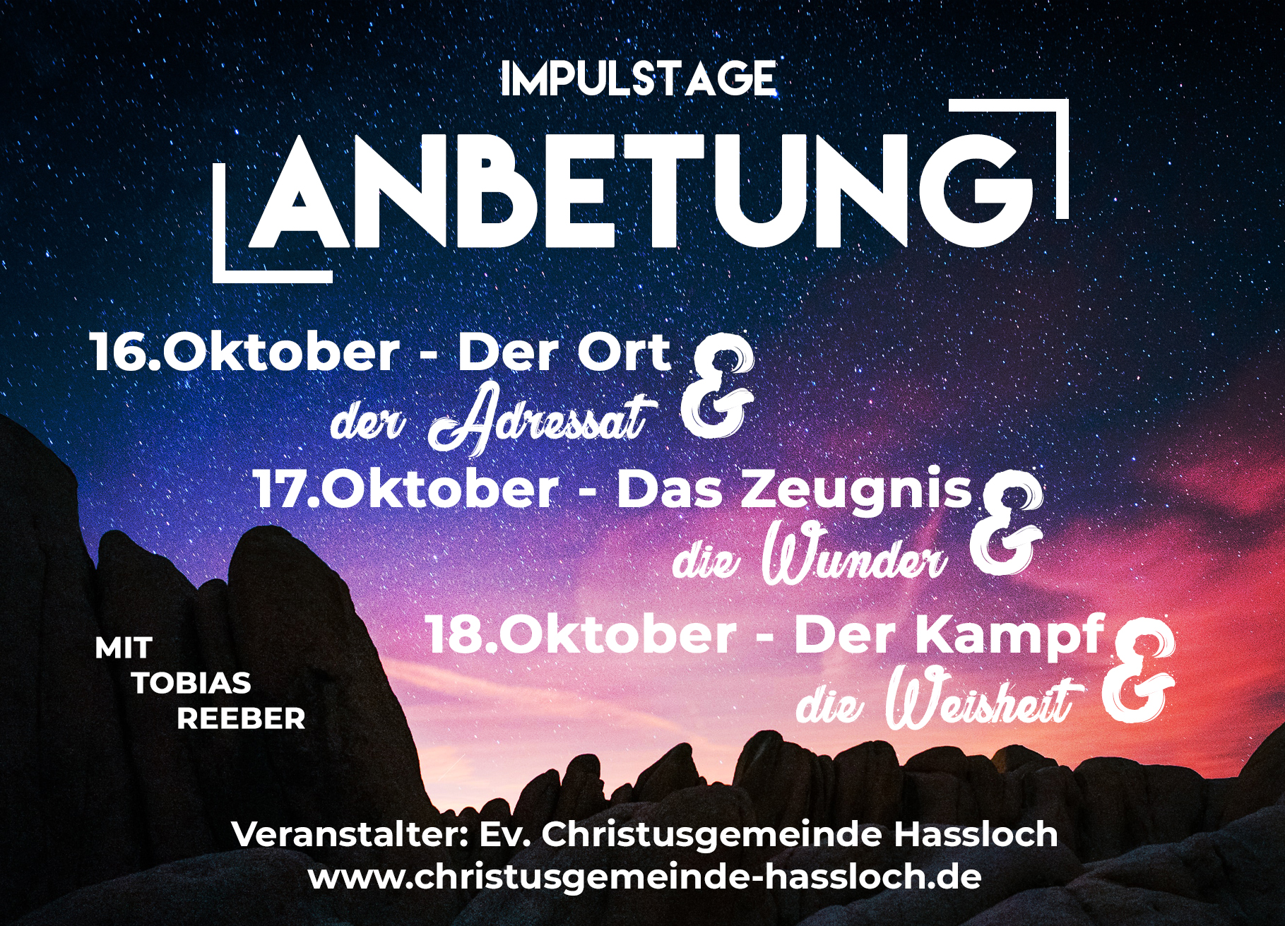 Anbetung, Predigtreihe, Downloads Und Predigten, Podcast, Christusgemeinde Hassloch, Tobias Reeber, Impulstage