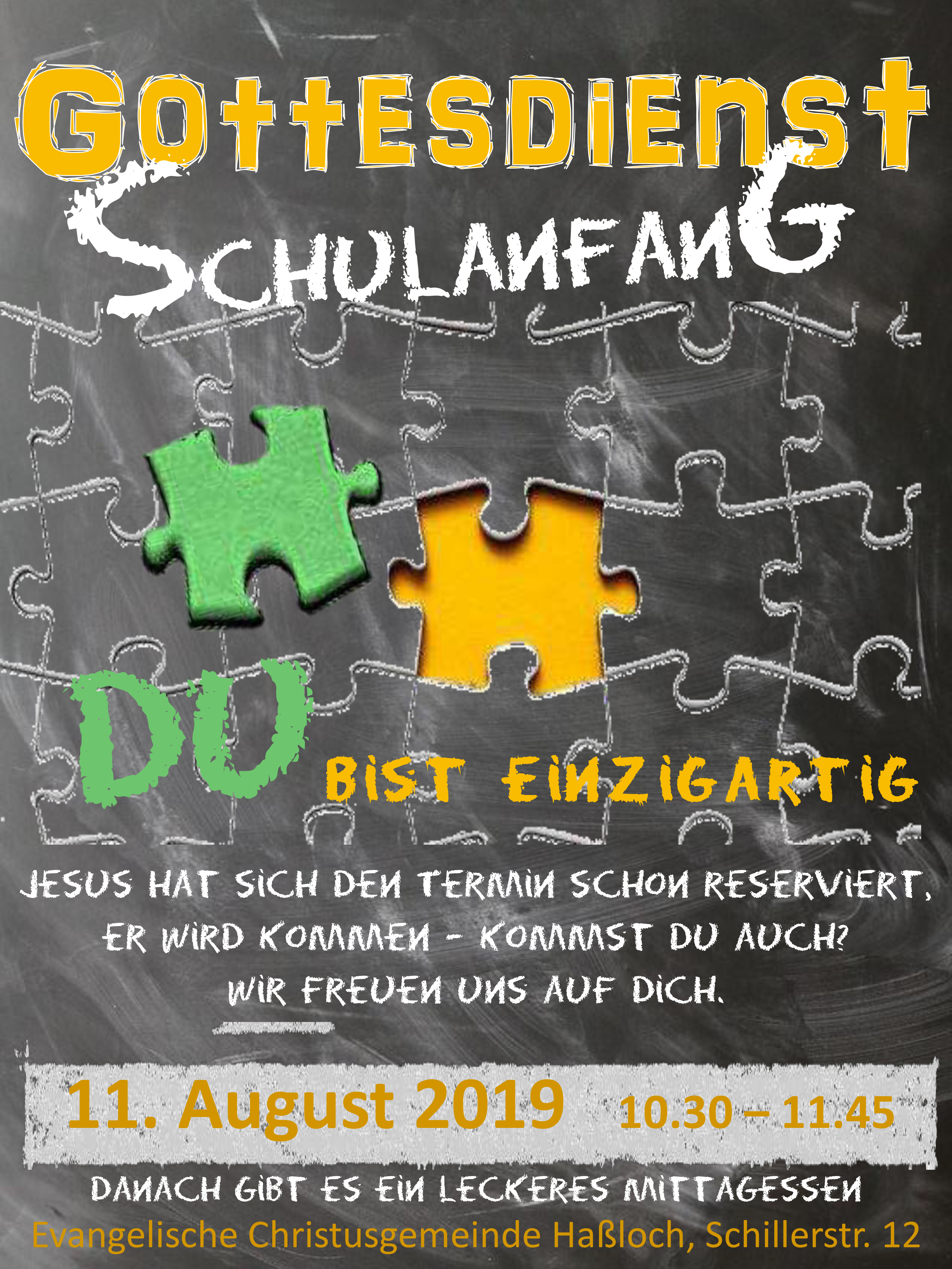 Schulanfangsgottesdienst 2019